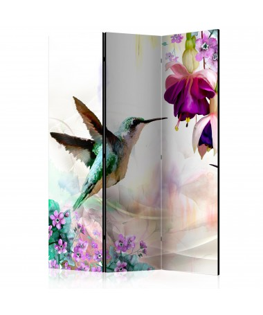 Paravento - Hummingbirds and Flowers [Room Dividers]