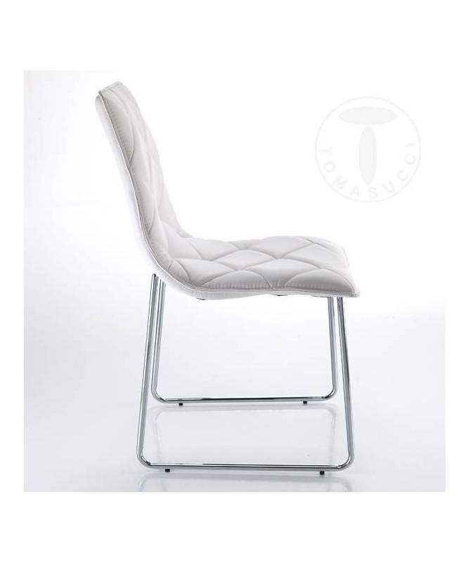 Sedia in pelle sintetica Soft - set da 4 bianco