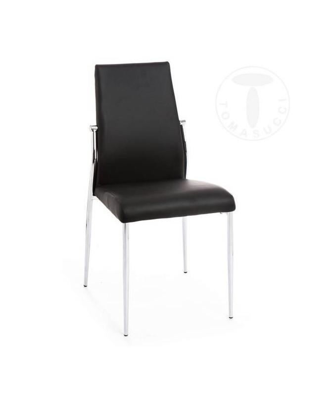 Sedia in pelle ecologica Margo - set da 4 nera