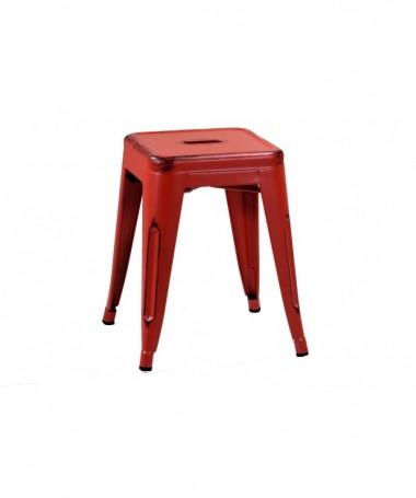 Sgabello in ferro Bristol - 45 cm rosso