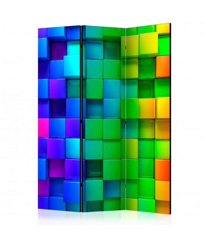Paravento - Colourful Cubes [Room Dividers]