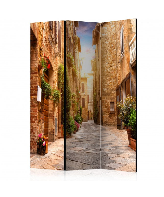 Paravento - Colourful Street in Tuscany [Room Dividers]