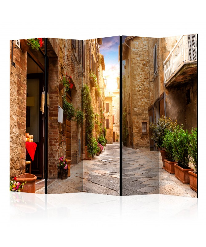 Paravento - Colourful Street in Tuscany II [Room Dividers]