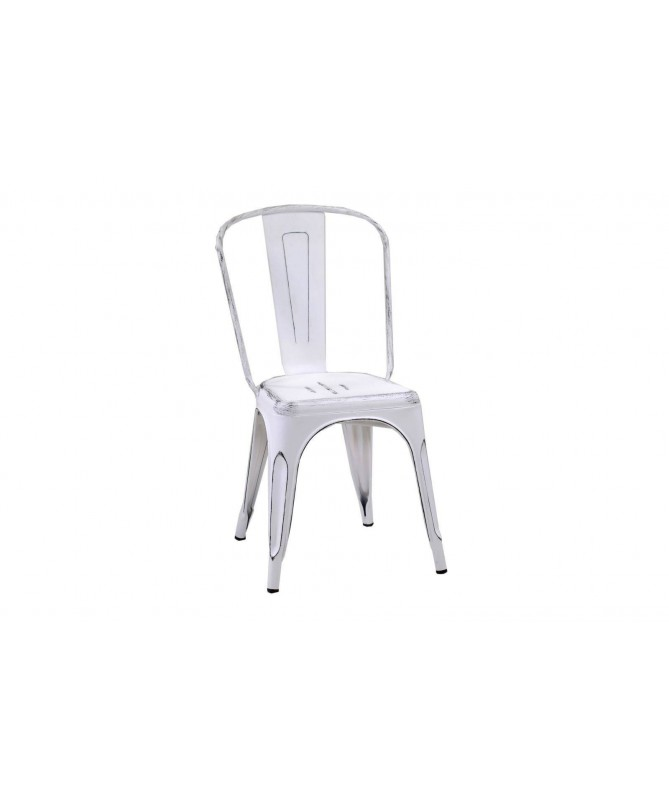 Sedia Bristol in ferro - set da 4 bianco