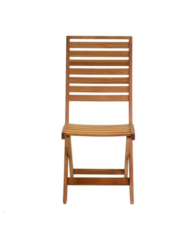 Set 2 sedie pieghevoli in legno modello Nanchino con cuscino