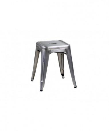 Sgabello in ferro Bristol - 45 cm galvanizzato