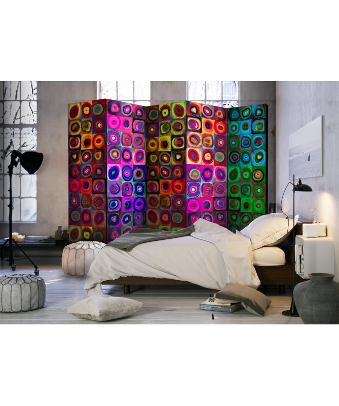 Paravento - Colorful Abstract Art II [Room Dividers]