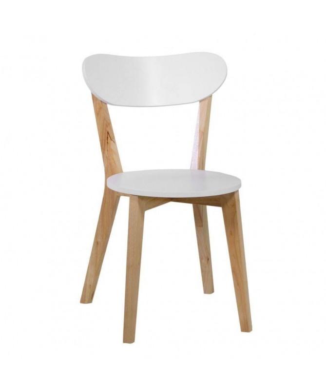 Sedia in legno - set da 4 bianco