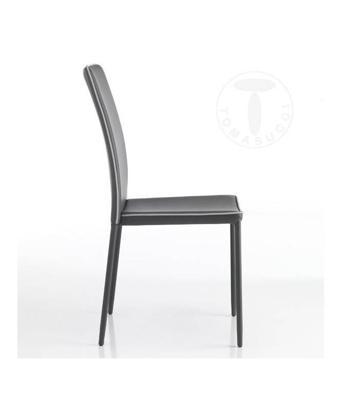 Sedia in pelle sintetica Kable - set da 4 grigio