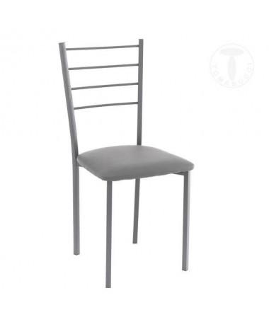 Sedia Just in pelle sintetica- set da 4 grigio