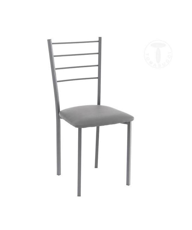 Sedia Just in pelle sintetica di Tomasucci set da 4 grigio