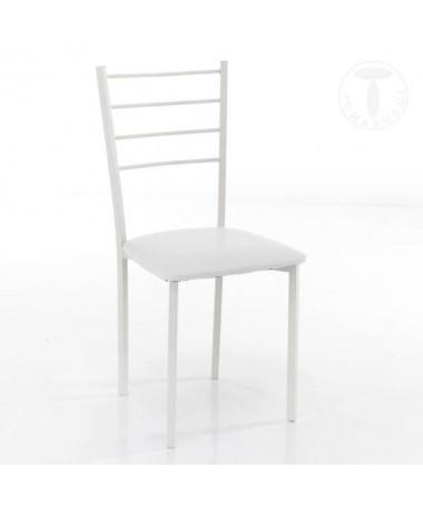 Sedia Just in pelle sintetica- set da 4 bianco