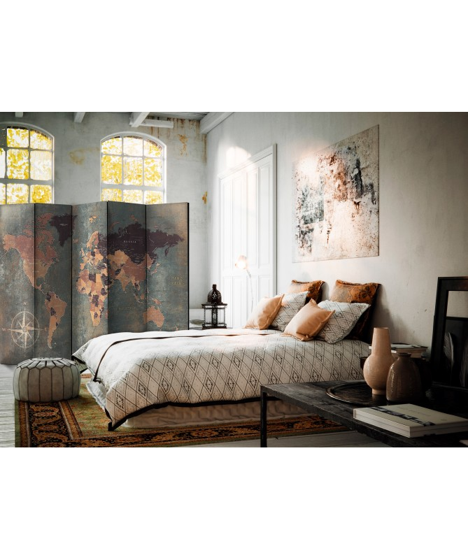 Paravento - Room divider - Map in browns and greys