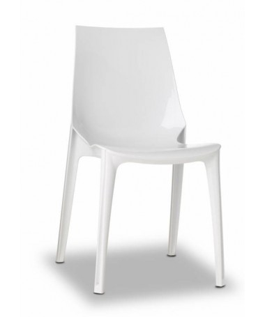 Poltrona Vanity Chair set da 4 policarbonato Made in Italy