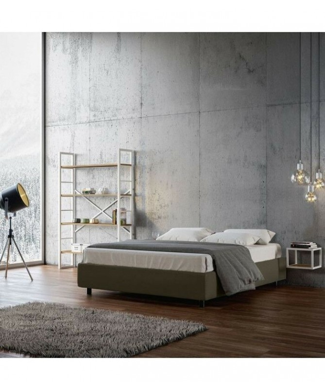 Letto sommier matrimoniale Azelia in similpelle Made in Italy