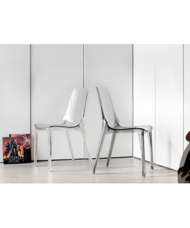 Sedia Vanity Chair set da 4 policarbonato Made in Italy