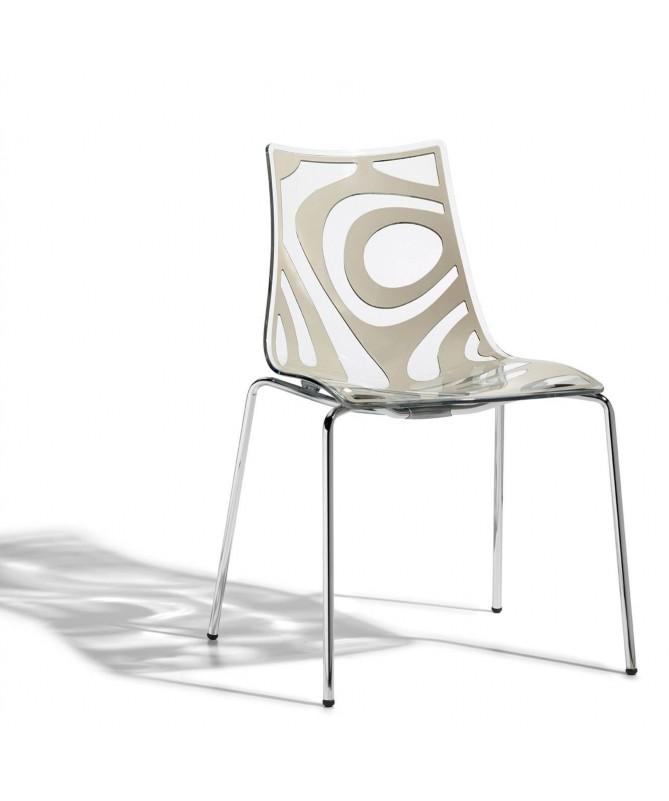 Sedia in tecnopolimero stampato Wave Made in Italy - set da 4