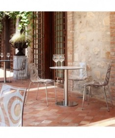 SEDIA CALL struttura in faggio e seduta in legno massiccio laccato bianco MADE IN ITALY