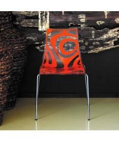 SEDIA BLOOM struttura in faggio e seduta in legno massiccio laccato bianco MADE IN ITALY
