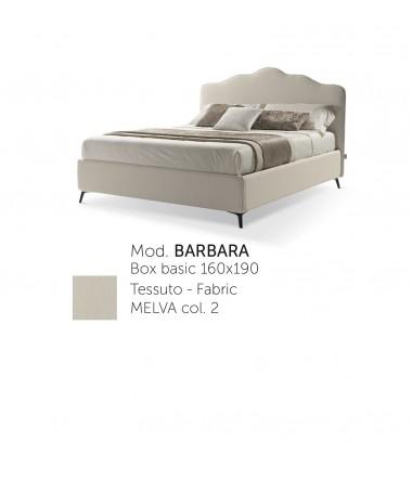 Letto matrimoniale Barbara in tessuto