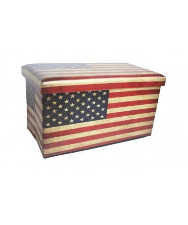 CASSAPANCA CONTENITORE PIEGHEVOLE IN PU US FLAG