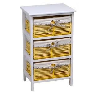 Mobiletto cassettiera giallo 3 cassetti