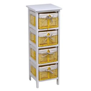 Mobiletto cassettiera giallo 4 cassetti