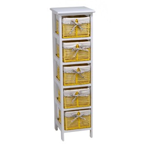 Mobiletto cassettiera giallo 5 cassetti