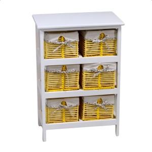 Mobiletto cassettiera giallo 6 cassetti