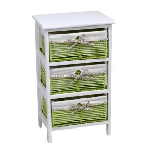 Mobiletto cassettiera verde 3 cassetti