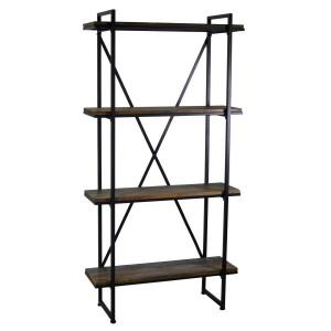 Scaffale metallo legno 4 piani