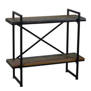 Scaffale metallo legno 2 piani
