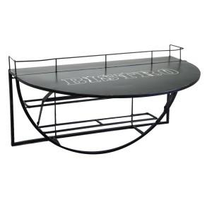 Tavolino metallo da muro con mensola nero