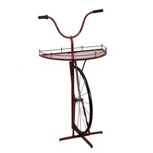 Mensola metallo bicicletta rosso cm64x33/38h81/115