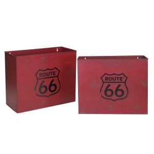 Portariviste metallo bristol rosso