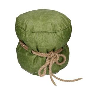Puff cellulosa verde con corda tondo