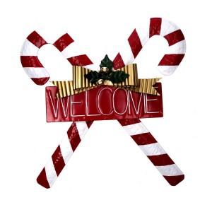 Decorazione natalizia porta d'ingresso