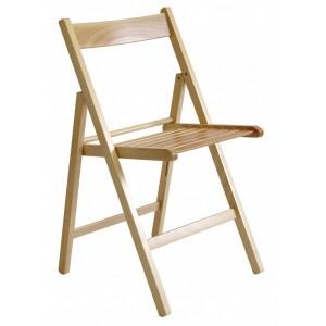 Set 4 sedie pieghevoli in legno di faggio