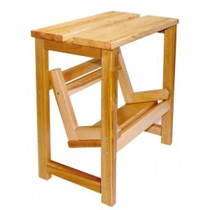Sgabello a scaletta in legno