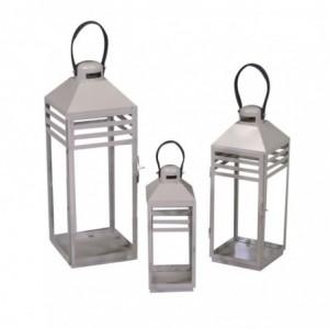 Lanterna metallo 1-3 sabbia rettangolare cm22x21,4h58,5/75