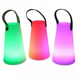 Lampada led plastica ricaricabile multicolor tondo cmØ12h20