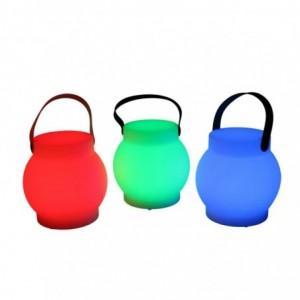 Lampada led plastica ricaricabile multicolor tondo cmØ15h15