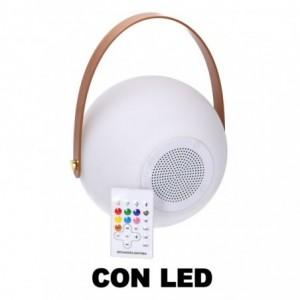 Lampada led plastica ricaricabile multicolor musica tondo cmø20h20