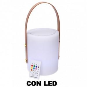 Lampada led plastica ricaricabile multicolor musica tondo cmø16h20