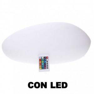 Lampada led plastica ricaricabile sasso multicolor cm40x30h15