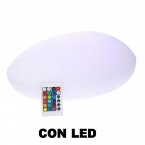 Lampada led plastica ricaricabile sasso multicolor cm51x37h20