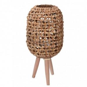 Lanterna legno naturale tondo cmø21h45