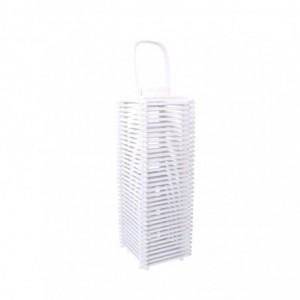 Lanterna legno bianco quadro cm23x23h48