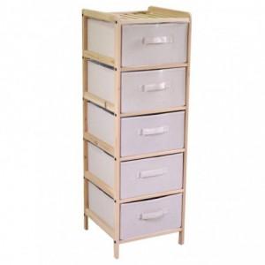 Mobiletto vigo cassettiera 5 cassetti naturale rettangolare cm34,5x36,5h103