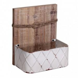 Portalettere mare legno c/corda cm23x15h27